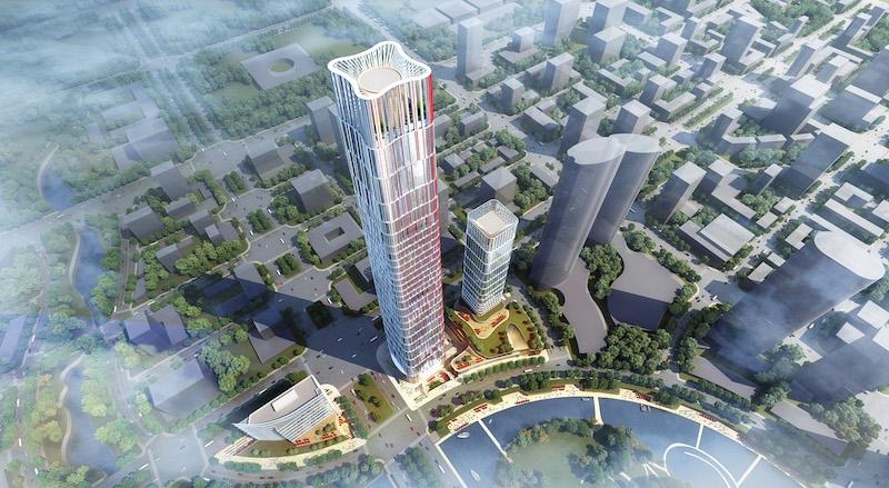Goettsch Partners设计三座建筑光学谷中心综合体