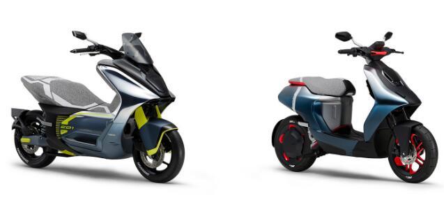 雅马哈最新的电动概念车包括两个城市踏板车