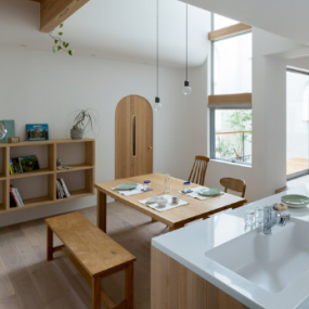 Alts Design Office在日本的Outsu House中使用拱形和曲线