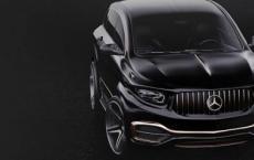 梅赛德斯AMG GLS Coupe的渲染显示了复古风格的新设计
